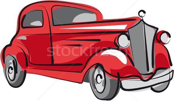 Сток-фото: старый · автомобиль · старые · красный
