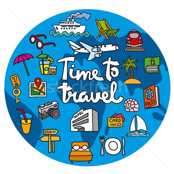 путешествия икона курорта круиз туризма путешествия Сток-фото © olegtoka