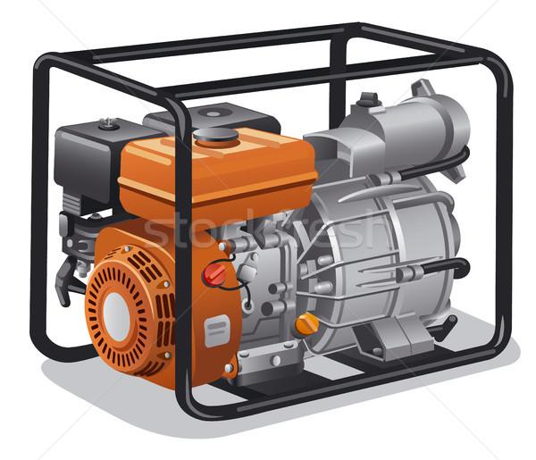 Mozdíthatatlan erő generátor illusztráció ipari otthon Stock fotó © olegtoka