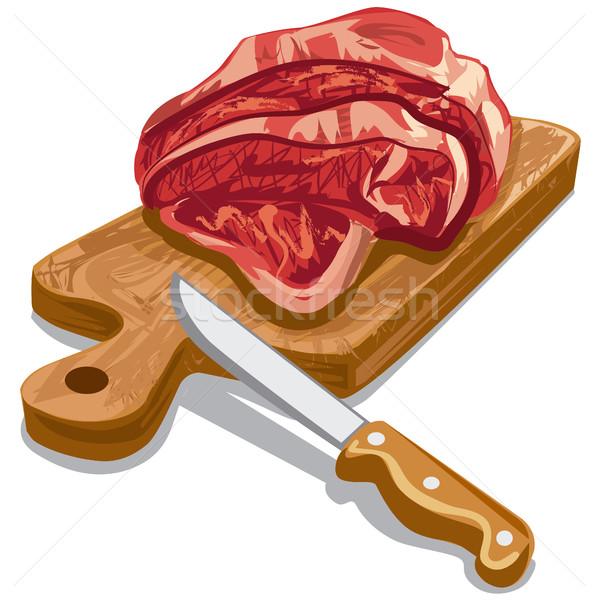 сырой мяса иллюстрация приготовления Сток-фото © olegtoka