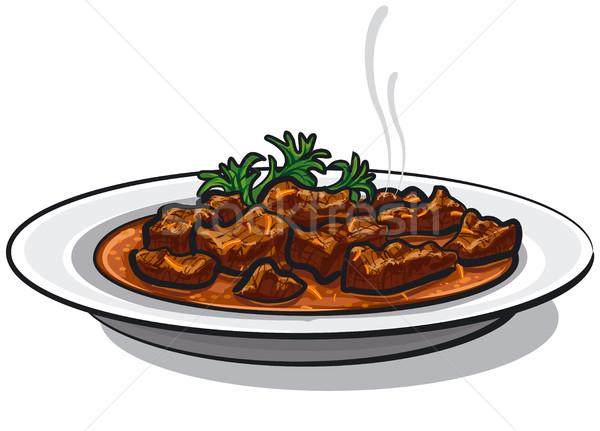 traditional goulash dish Stock photo © olegtoka