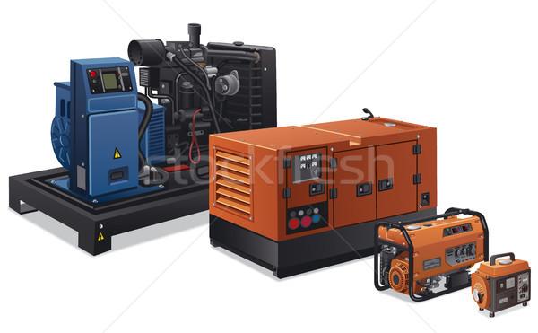 Endüstriyel güç örnek farklı tip fabrika Stok fotoğraf © olegtoka