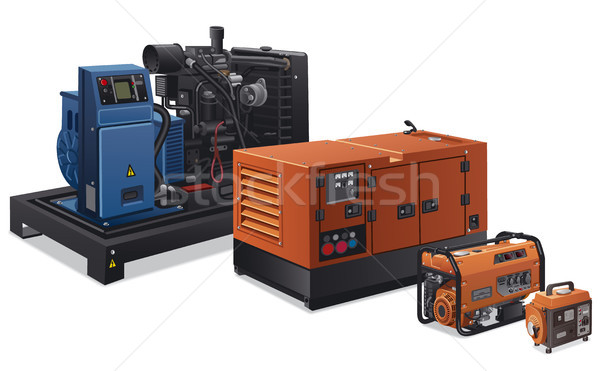 Industriële macht illustratie verschillend type fabriek Stockfoto © olegtoka