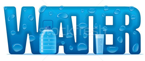 природного воды баннер иллюстрация письме стекла Сток-фото © olegtoka