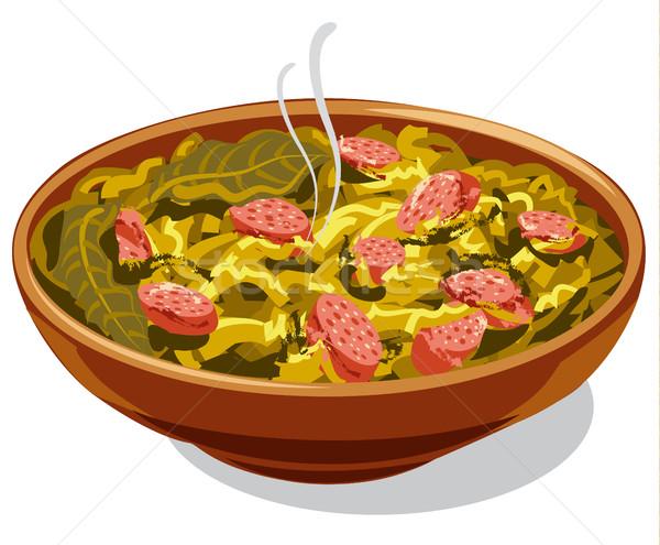 traditional dish bigos Stock photo © olegtoka