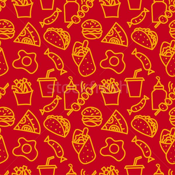 Fast-food örnek kahve sokak arka plan Stok fotoğraf © olegtoka
