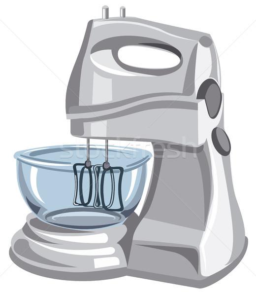 électrique alimentaire mixeur illustration modernes machine Photo stock © olegtoka