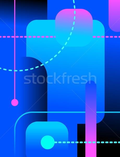 аннотация искусства линия дизайна Сток-фото © olegtoka