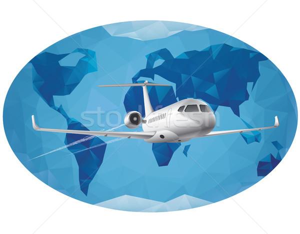 Stock fotó: Világ · levegő · utazás · légi · utazás · körül · repülőgép