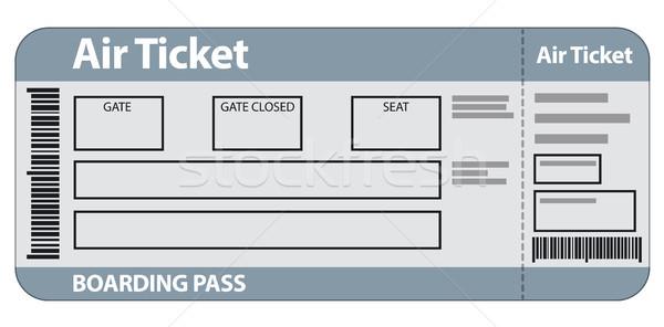 воздуха билета шаблон иллюстрация путешествия самолет Сток-фото © olegtoka