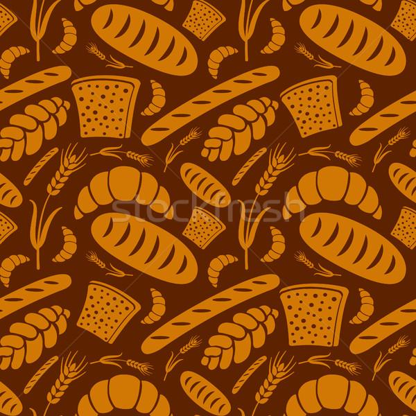 хлеб хлебобулочные иллюстрация фон обои Сток-фото © olegtoka