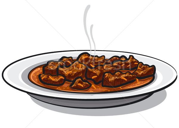 traditional goulash meat Stock photo © olegtoka