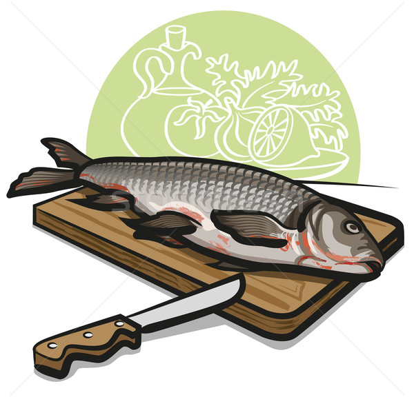 fresh raw fish Stock photo © olegtoka