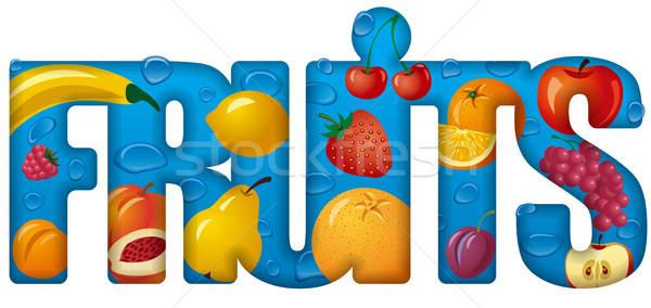 örnek afiş meyve karpuzu Stok fotoğraf © olegtoka