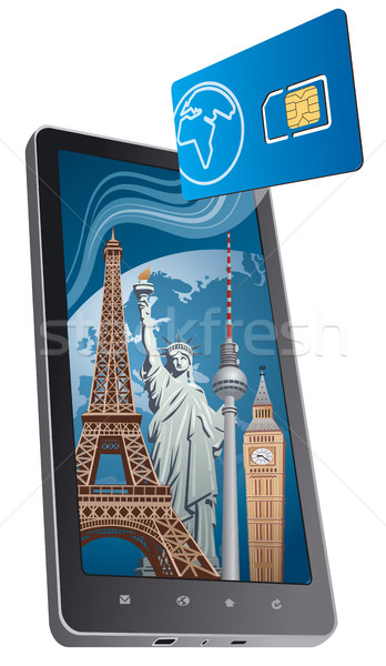 global roaming phone calls Stock photo © olegtoka
