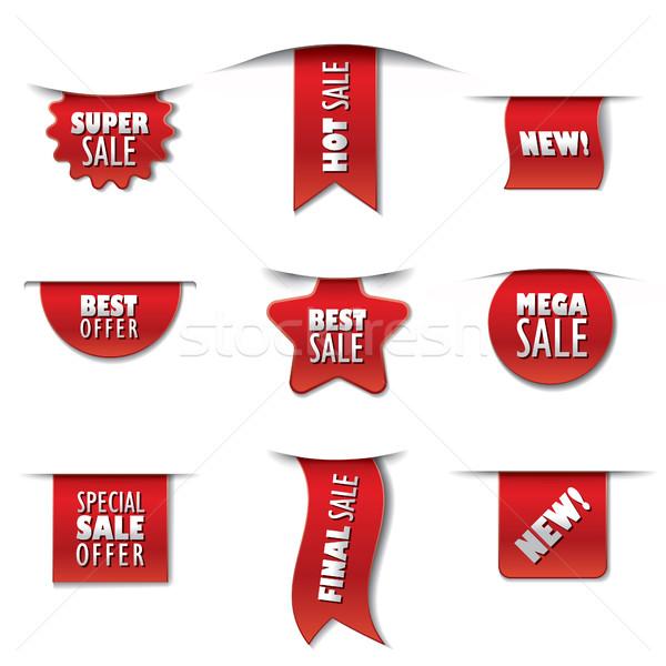 реклама продажи набор поощрения Баннеры Сток-фото © olegtoka