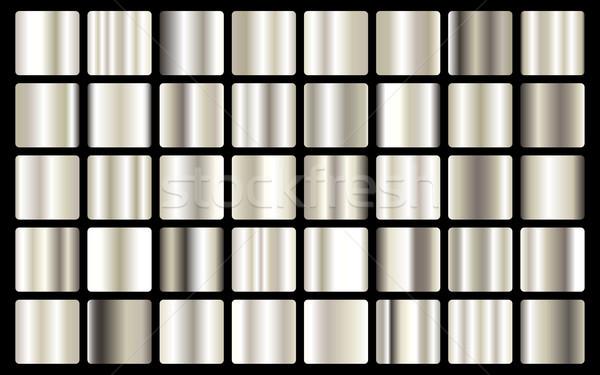 Plata textura vector icono luz Foto stock © olehsvetiukha