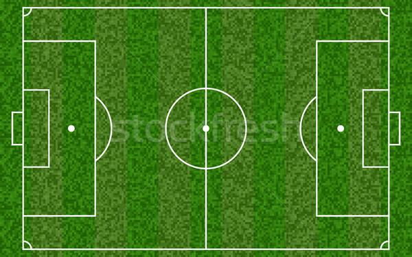 Futballpálya futball európai mező fű terv Stock fotó © olehsvetiukha