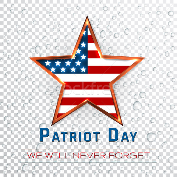 Patriot Day 9.11 digital sign with star onthe raindrop background, vector illustration Stock photo © olehsvetiukha