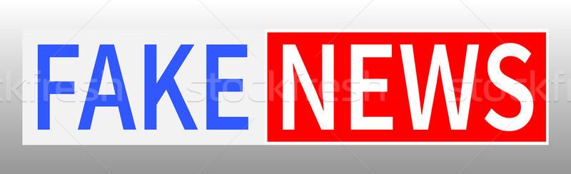 偽 ニュース 世界 テレビ デザイン ベクトル ストックフォト © olehsvetiukha