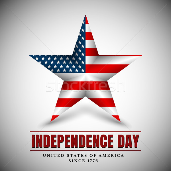 4 th july usa star, independence day. Vector illustration Stock photo © olehsvetiukha