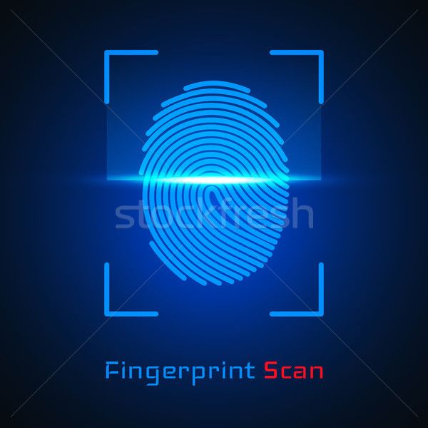 Finger-print Scanning Identification System. Biometric Authorization and Business Security Concept.  Stock photo © olehsvetiukha