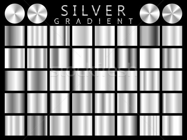 Gümüş doku vektör ikon ışık Stok fotoğraf © olehsvetiukha