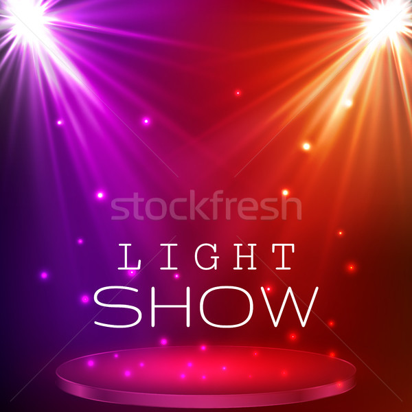 stage spot lighting. magic light. vector background Stock photo © olehsvetiukha