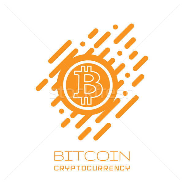 Bitcoin symbol in flat design. Vector Stock photo © olehsvetiukha