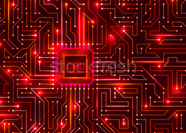 Hallo Tech digitalen cpu Vektor Textur abstrakten Stock foto © olehsvetiukha