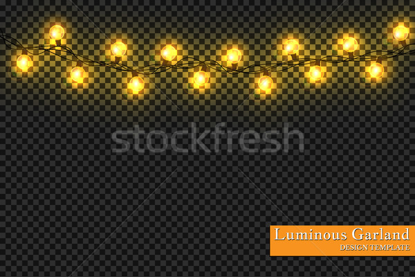 Garlands, realistic glowing garland Christmas decoration lights effects. Christmas decoration. Isola Stock photo © olehsvetiukha