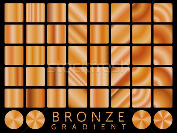 Bronze background texture vector icon seamless pattern. Light, realistic, elegant, shiny, metallic a Stock photo © olehsvetiukha