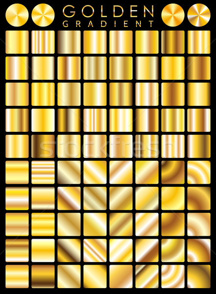 Stock photo: Gold background texture vector icon seamless pattern. Light, realistic, elegant, shiny, metallic and