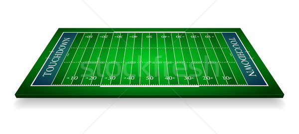 detailed illustration of an American Football fields with perspective, eps10 vector Stock photo © olehsvetiukha