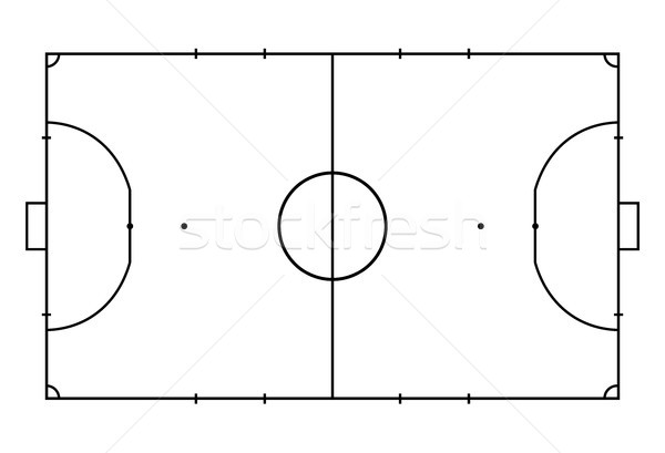 Futsal court or field. Sport background. Line art style Stock photo © olehsvetiukha