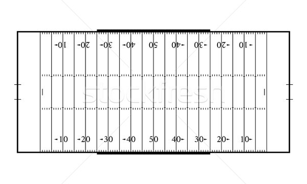 American football field. Sport background. Line art style Stock photo © olehsvetiukha