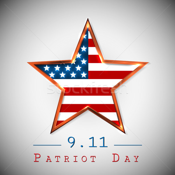 Patriot Day 9.11 digital sign with star. vector illustration Stock photo © olehsvetiukha