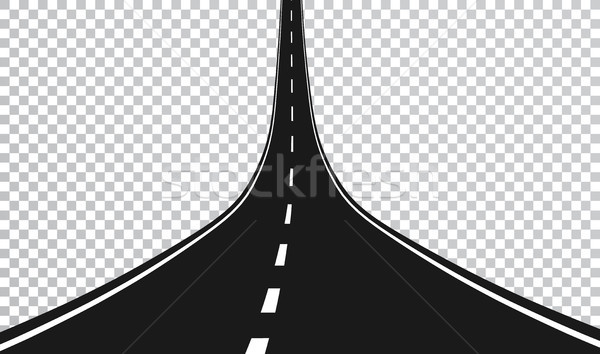 Straight road with white markings. Vector illustration Stock photo © olehsvetiukha