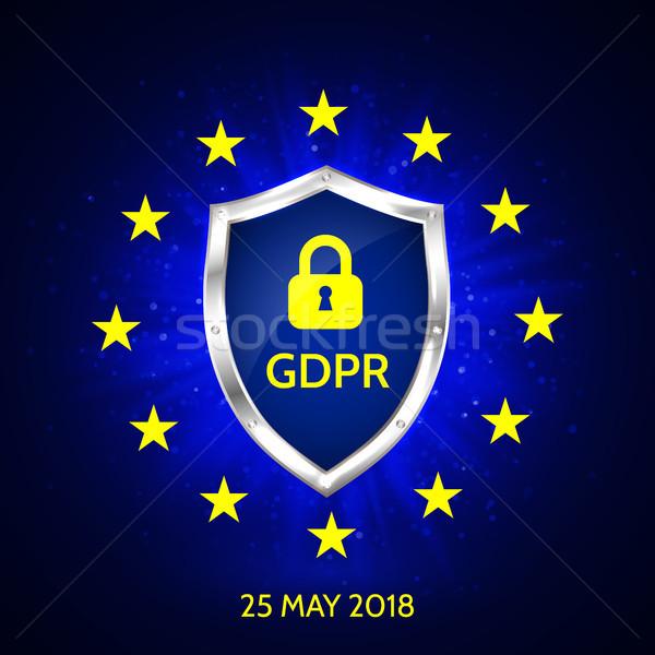 Général protection des données réglementation carte technologie Photo stock © olehsvetiukha