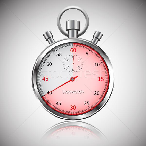 40 secondi argento realistico cronometro riflessione Foto d'archivio © olehsvetiukha