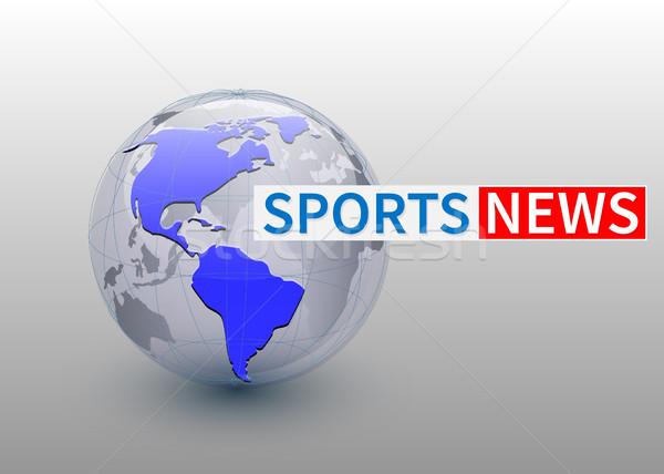 Deportes noticias mundo planeta tv diseno Foto stock © olehsvetiukha