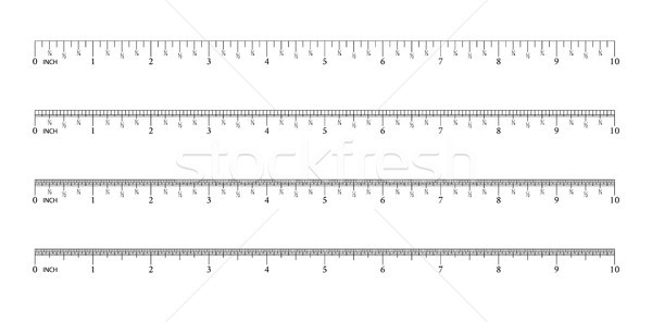 Ruler 8 inch.16 inch. 32 inch. Graduation of an inch. Measuring tool. Ruler Graduation. Size indicat Stock photo © olehsvetiukha