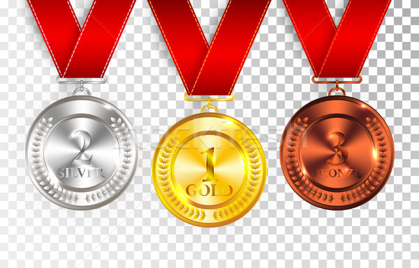 Сток-фото: набор · золото · серебро · бронзовый · награда