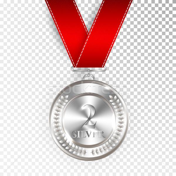 Mistrz sztuki srebrny medal ikona Zdjęcia stock © olehsvetiukha