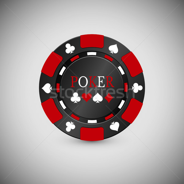 Black and Red Casino Chip Icon. Casino Chip Vector Illustration Stock photo © olehsvetiukha