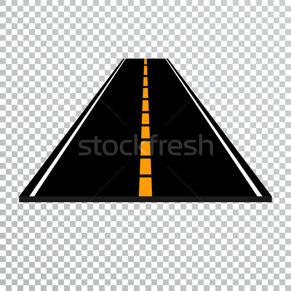 Winding road or highway with markings. Direction, transportation set. Vector illustration Stock photo © olehsvetiukha