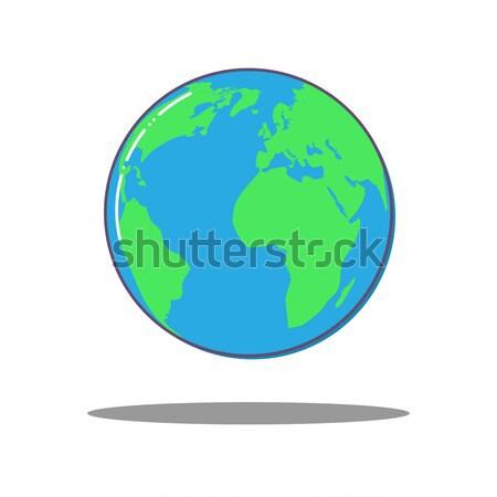 Mundo icono vector tierra mundo mapa Foto stock © olehsvetiukha