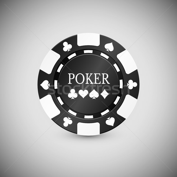 Black Casino Chip Icon. Casino Chip Vector Illustration Stock photo © olehsvetiukha