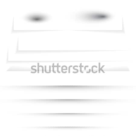Stock photo: Transparent realistic paper shadow effect set. Web banner. Shade for advertising and promotional mes