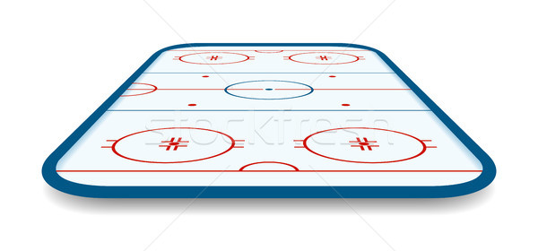 detailed illustration of a icehockey rink, field, court with perspectives, eps10 vector Stock photo © olehsvetiukha